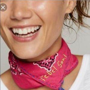 Betsey Johnson handkerchief bandanna scarf